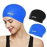 Aegend Swim Caps for Long Hair (2 Pack), Durable...