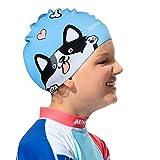 COPOZZ Kids/Adult Swim Caps, Silicone Waterproof Comfy...