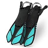 Greatever Snorkel Fins Adjustable Buckles Open Heel...